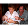 Shannon with Great Grandma and Great Grandpa Charlebois